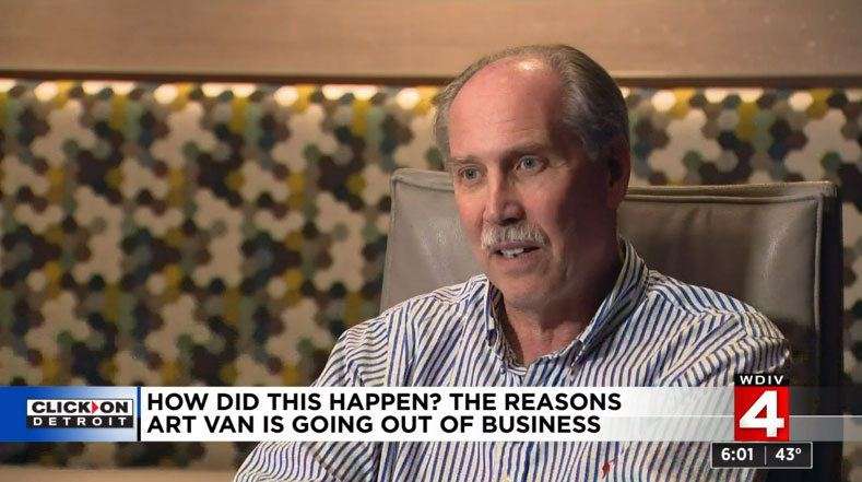 Doug Bernstein Explains Art Van Bankruptcy Photo