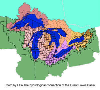 EPA Great Lakes Basin Diagram