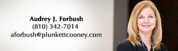 Audrey Forbush Plunkett Cooney Governmental Law Attorney Flint