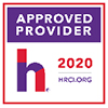 Square logo of HRCI logo for approved providers in 2020
