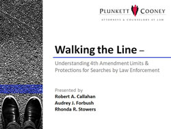 Walking the Line Fourth (4th) Amendment Webinar